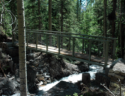 Telluride, CO trail bridge